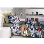 Jogo de Cama Solteiro 180 Fios Innovare Street Textil Lar 1026563