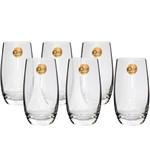 Jogo de Copos 06 Peças para Long Drink de Cristal Classic 500ml Oxford