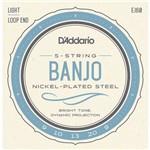 Jogo de Cordas D'addario Banjo 5 Cordas Ej60 .009 .020