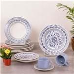 Jogo de Jantar Cerâmica 20 Peças Donna Oxford Azul Claro Azul Claro