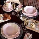 Jogo de Jantar e Chá 30 Peças Ryo Oxford Pink Sand Pink Sand