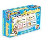 Jogo de Memória Inglês Animais 42 Peças