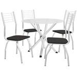 Jogo de Mesa 4 Cadeiras Kappesberg Crome CMC506CR-110 Cromado/Preto