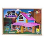 Jogo de Montar Casa dos Sonhos Iob Brinquedos de Madeira