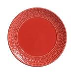 Jogo de Pratos para Sobremesa Greek 6 Peças Vermelho