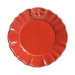 Jogo de Pratos para Sobremesa Windsor 6 Peças Vermelho