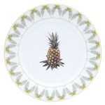 Jogo de Pratos Rasos de Porcelana 6 Peças Pineapple 8263 Lyor