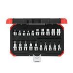 Jogo de Soquete Torx Encaixe 3/8 + 1/2 Kit com 20 Peças - Gedore Red