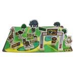 Jogo de Tabuleiro Meu Zoo Iob Brinquedos de Madeira