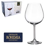 Jogo de Taca de Cristal para Vinho Bordeau com 6 Unidades Gastro Bohemia 650ml