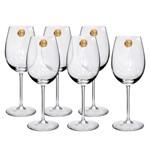 Jogo de Taças 06 Peças para Vinho de Cristal Classic Brunello 610ml Oxford