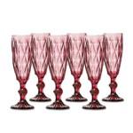 Jogo de Taças Champagne Diamante Lilás 140ml Class Home
