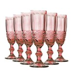 Jogo de Taças Champagne Elegance Lilás 140ml Class Home