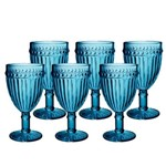 Jogo de Taças Empire Azul para Água 320 Ml 06 Peças