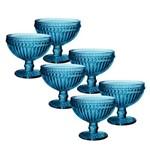 Jogo de Taças Empire Azul para Champagne 300 Ml 06 Peças