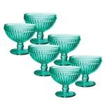 Jogo de Taças Empire Verde para Champagne 300 Ml 06 Peças