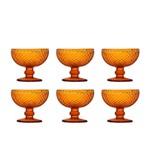 Jogo de Taças Sobremesa Cupe Bico de Jaca Ambar 300 Ml