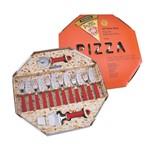 Jogo de Talheres Inox para Pizza 14 Peças Vermelho