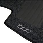 Jogo de Tapete Carpete Fiat 500 2011 a 2013 Preto - 5 Peças (Personalizado)