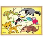 Jogo Quebra-Cabeça Animais da Fauna Brasileira com 1851 - Carlu