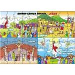 Jogo Quebra-Cabeça Bíblico Jesus/Vida/Ressurreição em Mdf 1508 - Carlu