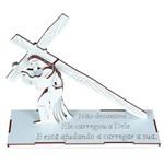 Jogo Quebra-Cabeça 3d Jesus Carregando a Cruz em Mdf 1750 - Carlu