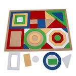 Jogo Quebra-Cabeça Geométrico Gigante com 30 Peças + 1 Base 1856 - Carlu
