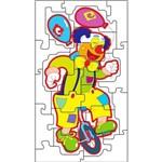 Jogo Quebra Cabeça Gigante Palhaço Equilibrista 1517 - Carlu