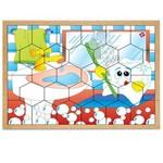 Jogo Quebra-Cabeça Higiene em Mdf com 30 Peças + 1 Base 1307 - Carlu