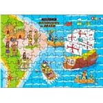 Jogo Quebra-Cabeça História Descobrimento do Brasil em Mdf 1505 - Carlu