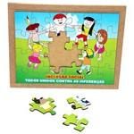 Jogo Quebra-Cabeça Inclusão Social com 24 Peças + 1 Base 1546 - Carlu
