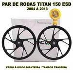 Jogo Rodas Liga Leve Titan 150 Esd Disco Alumínio 5 Pontas