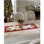 Jogo Trilho de Mesa com 3 Peças Natal 35x100cm 100% Algodão
