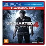 Jogo Uncharted 4 a Thief's End Hits Ps4