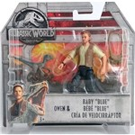Jurassic World Basic Figure Mattel FMM00 Owen & Baby Blue