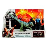 Jurassic World - Conjunto Aventura - Velociraptor e Owen - Mattel FMM51