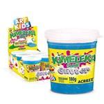 Kimeleka Slime Acrilex com Glitter Azul Caixa com 6