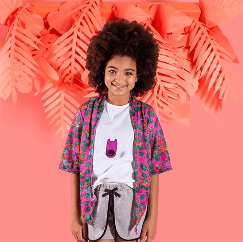 Kimono Floresta Pink Violacio/10 e 12