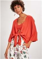 Kimono + Top Crepe LARANJA G