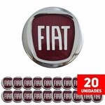 - Kit 20 Calota Miolo de Roda Fiat Punto 49,6mm Logo Vermelho