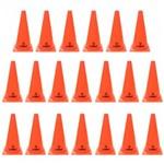 Kit 20 Cones de Agilidade para Demarcacao com 28 Cm Alaranjado Liveup