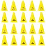 Kit 20 Cones de Agilidade para Treinamento 18 Cm Amarelo Liveup