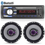 Radio Mp3 Player Automotivo Multilaser USB + 02 Falante 6 Pioneer Triaxial