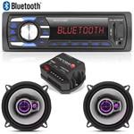 Radio Mp3 Multilaser Bluetooth + 02 Falante Pioneer 5 Triaxial + Módulo
