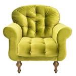 Poltrona Cadeira Decorativa Dani Sala Escritório Suede Amarelo