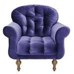 Poltrona Cadeira Decorativa Dani Sala Escritório Suede Azul Marinho