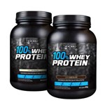 Kit 02 Potes Exceed 100% Whey Protein (01 Pote 900G Sabor Baunilha + 01 Pote 900G Sabor Chocolate)