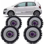 Kit 04 Alto Falante 6 Vw Fox Up Polo Triaxial Pioneer 200w Rms o Jogo