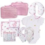 Kit 12 Premium Bolsa Maternidade Enxoval de Bebê Antialérgico 100% Algodão 150 Fios Unicórnio Brilha no Escuro