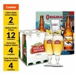 Kit 12 Stella Artois Long Neck + 2 Cálices + 4 Original 600ml + 4 Copos